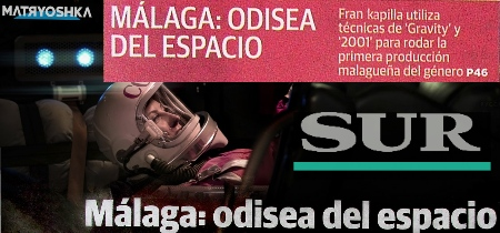 """Diario Sur (cabecera primera plana + página color); sobre """"Matryoshka"""""""