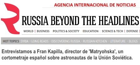 "La agencia internacional ""Russia beyond the headlines"" sobre ""Matryoshka"""