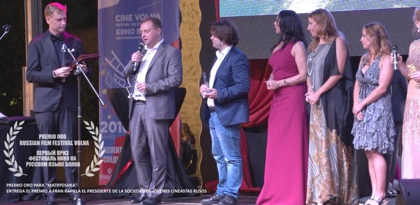 Premio de Oro en el Festival de cine ruso de Alicante(VOLNA)