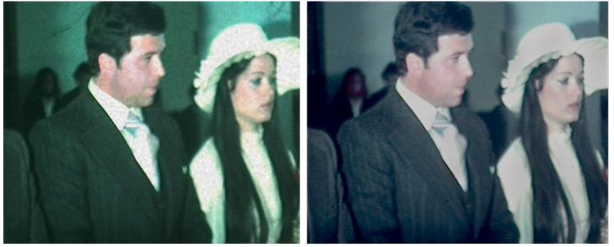 Restauración digital profesional 8 mm de 1977; boda de mispadres