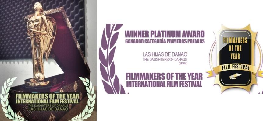 "Premio Platino en el Festival Filmmaker of the Year (Jakarta), ""Las hijas deDanao"""