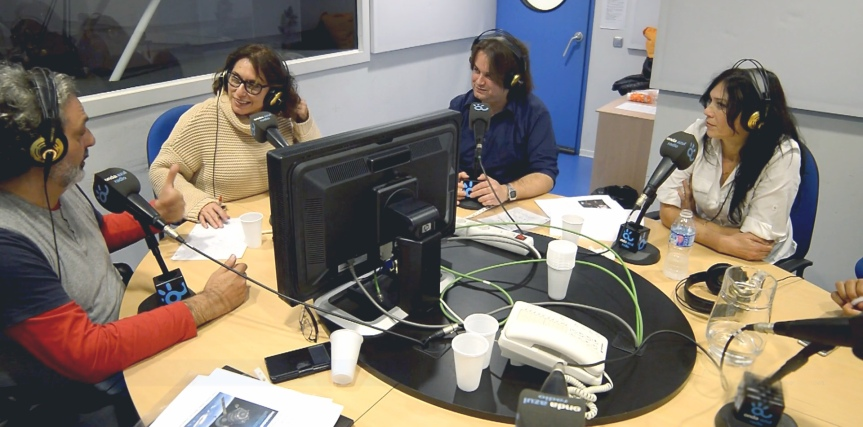 Entrevista en Onda Azul radio, programa de LourdesSánchez