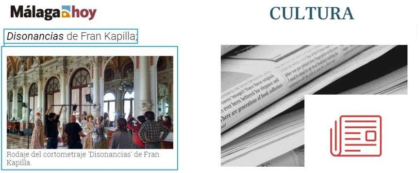 """Prensa """"Málaga Hoy"""": citan nuestro proyecto """"Disonancias"""" yfotografía"""