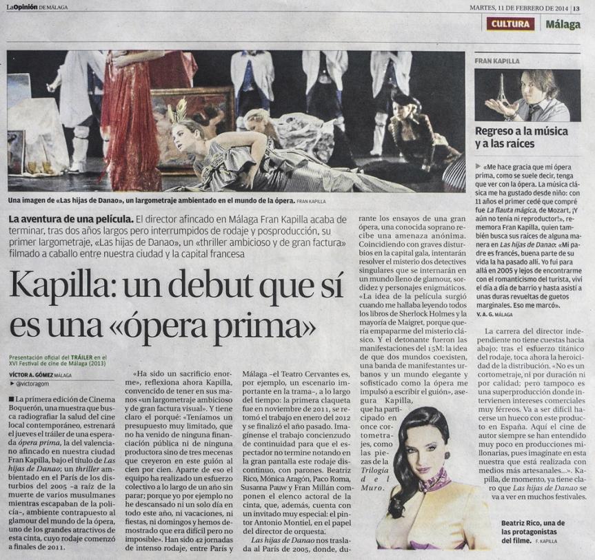 LA OPINIÓN DE MÁLAGA, FRAN KAPILLA