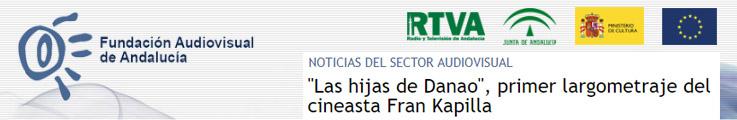 """Primera noticia en Fundación Audiovisual de Andalucía sobre """"Las hijas deDanao"""""""