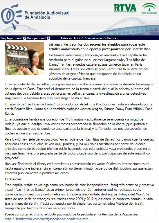 Fundación AVA (Las hijas de Danao, Fran Kapilla)
