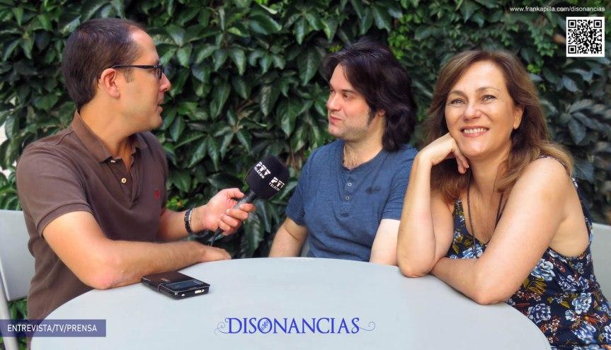 Entrevista en PTV,  Pilar Blanco y Fran Kapilla(Disonancias)