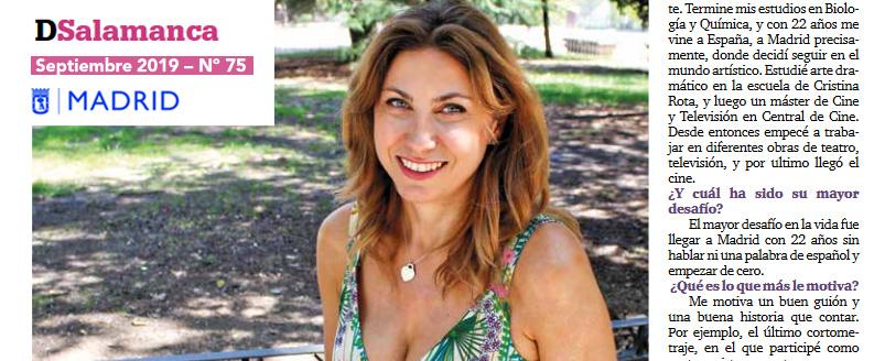 Entrevista en el periódico DSalamanca (Madrid) a MaríaIvanova
